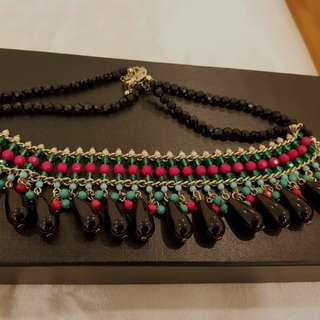 Lovisa Black beased necklace