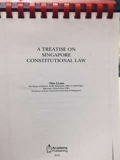 A Treatise on Singapore Constitutional Law