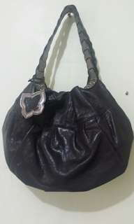 Anna Sui Leather Hobo