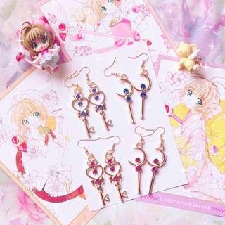 日系可愛美少女戰士百變小櫻風魔女lolita軟妹少女心無耳洞耳夾耳環earrings accessories ear clips made in japan