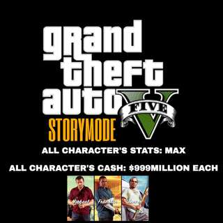 PS4 GTA 5 STORYMODE Modded Characters