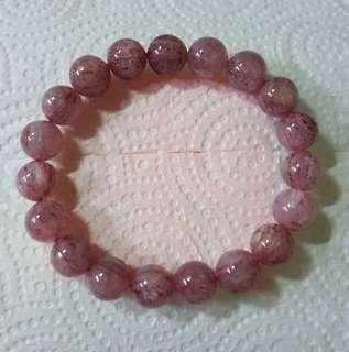 🚚 草莓晶手鍊10M