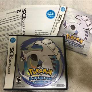🚚 Pokemon Soulsilver DS Soul Silver RPG Game 3DS DSi Nintendo Game