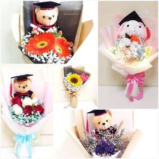 Fresh | Dried | Faux Flower 🌼 Graduation Bouquets