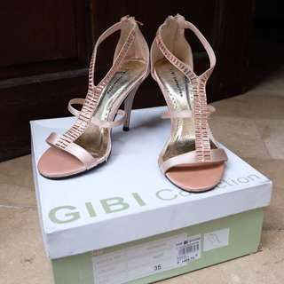 Gibi Strappy Heels (Rose Gold)
