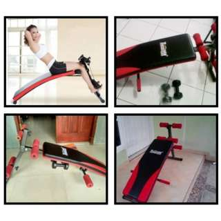 Papan Fitnes Sit UP Bench Alat Fitness Bentuk Perut Six Pack Termurah