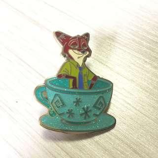 迪士尼 襟章 徽章 Disney Zootopia Nick Pin