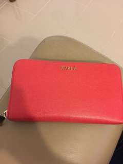 Authentic Furla Wallet Red