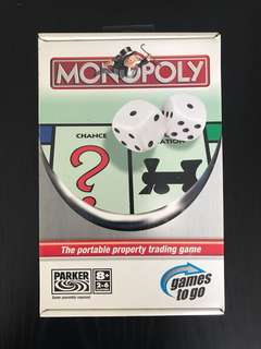 Monopoly Board Game portable brand new