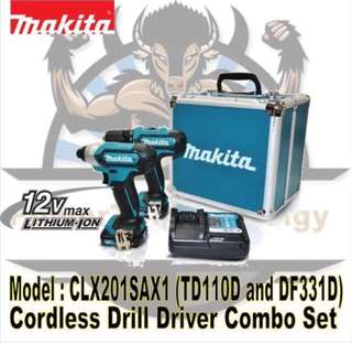 [NEW] MAKITA 12V CORDLESS COMBO KIT CLX201SAX1