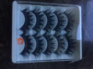 Thick, long false lashes