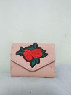 Korean wallet rose embroid