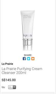 La Prairie Purifying Cleanser Cream Luxury Face Cleanser