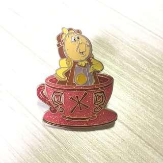 迪士尼 美女與野獸 襟章 徽章 Disney Beauty and the Beast Pin