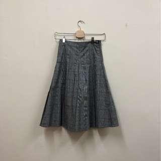 🚚 全新 格紋 高腰 顯瘦 傘裙 長裙