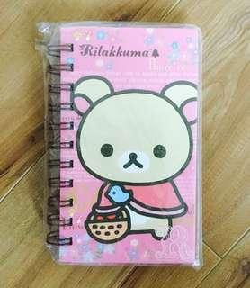 Rilakkuma bear pink cute ring notebook