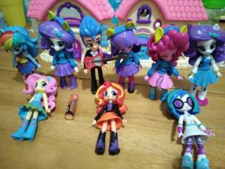 My Little Pony Equestria Girls set of 9