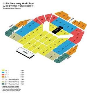 WTB JJ Lin Sanctuary World Tour concert tickets x2