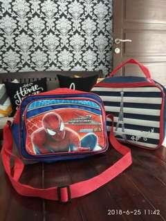 Tas selempang anak laki2 spiderman + (bonus tas)