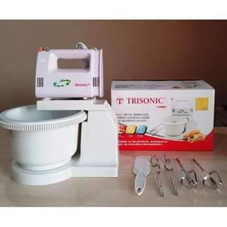 Pengaduk Adonan Trisonic Stand Mixer Com Mixer Berdiri - Putih