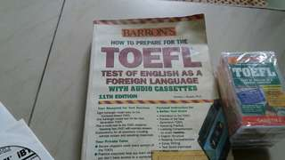 Toefl preparation with 5 cassettes