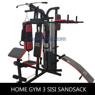 Total Fitness Alat Fitnes Angkat Beban Home Gym 3 Tiga Sisi Sandsack