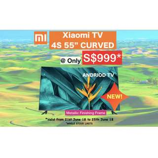 Curve TV xiaomi 55 inches Smart Android 4K flat screen curve tv 1 year warranty