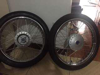 Honda wave tire Wheels