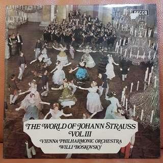 Classical》The World Of Johann Strauss Vol III  vinyl record