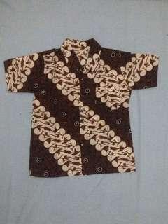 Kemeja Batik anak 3-5th