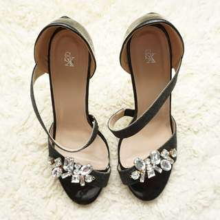 Black High Heels Sandals