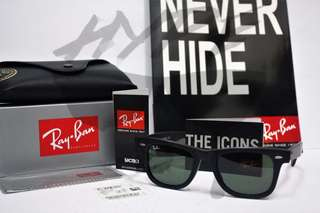 Authentic Ray Ban Wayfarer Classic RB2140 901S Matte Black 50MM Medium Asian Fit.