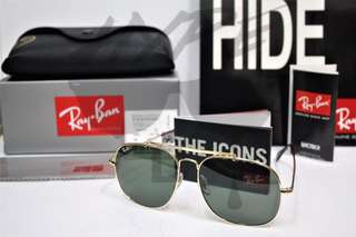 Authentic Ray Ban General RB3561 001 57-17.