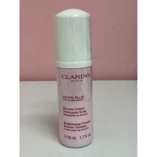 Clarins White Plus Brightening Creamy Mousse Cleanser Gentle Make-up Remover 50ml