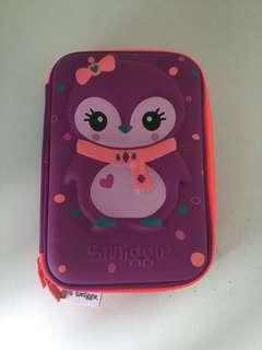 Smiggle pencil case purple penguin