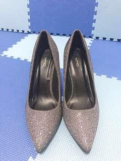 Grey Glitter Heels