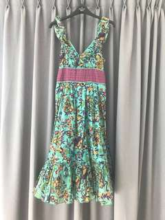 Forever 21 Floral Midi Dress (Size S)