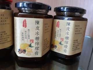 自家制,陳皮冰糖燉檸檬