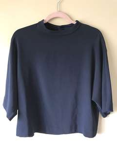 Uniqlo Navy Rayon top