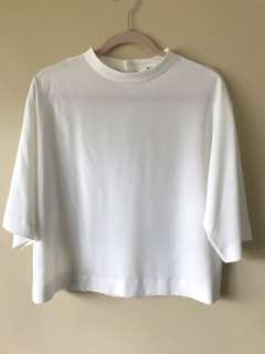 Uniqlo White Rayon top