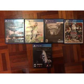 Selling PS4 games [Used]