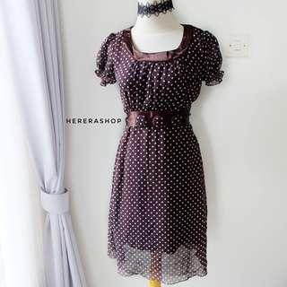 PL85 mini dress polkadot