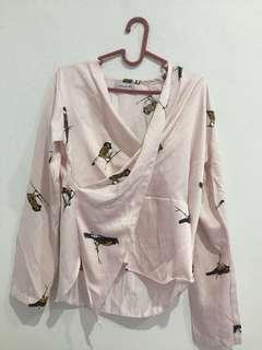 Pajamas blouse