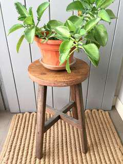 Vintage Wooden Stool - for rental