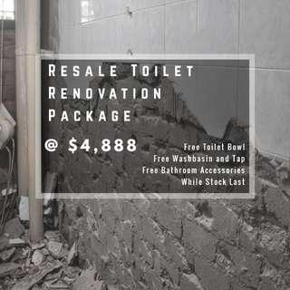 Tiling Hacking Contractor Resale Toilet