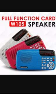 Nostalgic rechargeable FM radio with micro SD slot and torch light function.