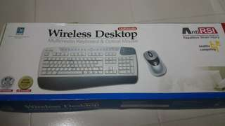 全新 無線鍵盤連無線滑鼠 Wireless Keyboard & Wireless Mouse