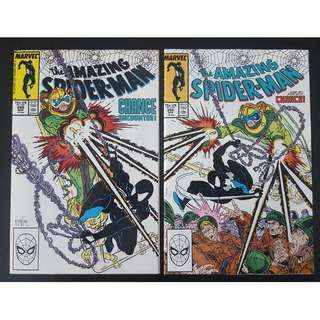 🔥HOT DEAL-Price Reduced!!(U.P. $228)🔥 Amazing Spider-Man #298,#299 (1988, 1st Series) 1ST Todd McFarlane! 1ST Appearance of Eddie Brock (aka VENOM)! RARE Must-Have Key-Books, Super-ICONIC!
