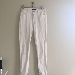 Glassons white skinny jeans