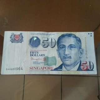 5. A. A/$50/Singapore.